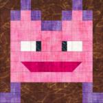 Free Quilt Pattern:  Halloween Monster