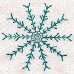 Free Embroidery Design Snowflake I Sew Free