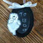 Free Embroidery Design:  Halloween Black Board Tags