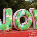 Free Sewing Pattern:  JOY Letter Pillows