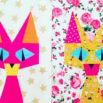 Free Quilt Pattern:  Candy Cat Paper Piecing Pattern