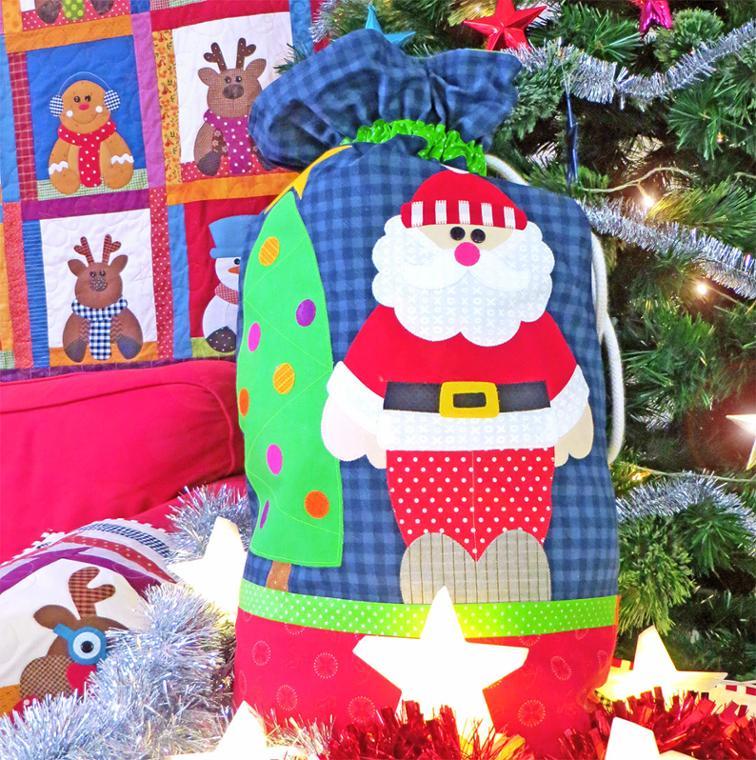 Free Sewing Pattern Merry Bright Santa Sack I Sew Free