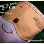 Free Sewing Pattern:  Smiling Santa Gift Bag