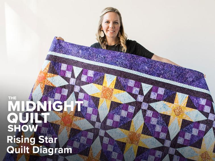 Free Quilt Pattern Rising Star Quilting Diagrams Midnight Quilt