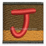 Free Embroidery Design:  Letter J