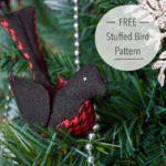 Free Sewing Pattern:  Stuffed Bird