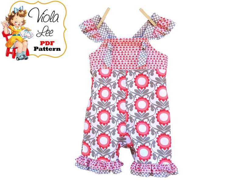 Free Sewing Pattern Gracie Baby Romper I Sew Free