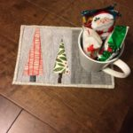 Free Quilt Pattern:  Feels Like Christmas Mug Rug