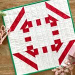 Free Quilt Pattern:  Peppermint – Mini Quilt
