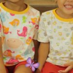 Free Sewing Pattern:  Yuzu and Pear Kids Tee (Relaxed Fit)