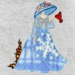 Free Embroidery Design:  Applique Bonnet and Bird