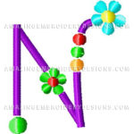 Free Embroidery Design:  Letter N