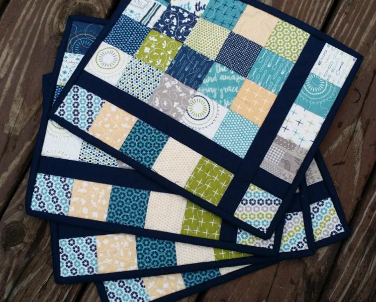 Free Quilt Pattern Almost Plaid Placemats I Sew Free