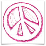 Free Embroidery Design:  Peace Symbol