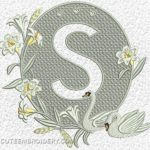 Free Embroidery Design:  Letter S