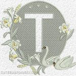 Free Embroidery Design:  Letter T