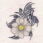 Free Embroidery Design:  Tribal Flower