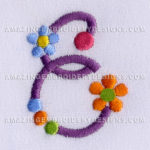 Free Embroidery Design:  Letter E