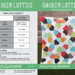 Free Quilt Pattern:  Broken Lattice