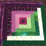 Free Quilt Pattern:  Log Cabin Block – Purple Delight Quilt Along 2018