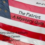 Free Quilt Pattern:  Mystery A7 The Patriot CLUE 2
