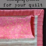 Free Quilt Tutorial:  Hanging Sleeve