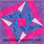 Free Quilt Pattern: Alex Star 6 Inch Paper Foundation Piecing