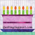 Free Quilt Pattern:  Special Cake Paper Foundation Piece Block