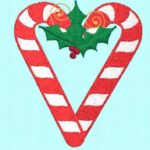 Free Embroidery Design:  Candy Cane Heart