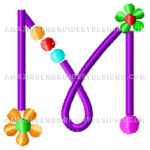 Free Embroidery Design:  Letter M