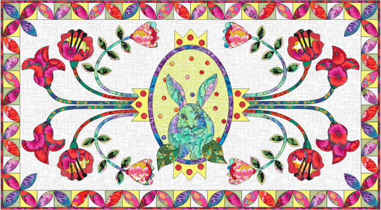 Free Quilt Pattern Queen S Garden Easter Party Table