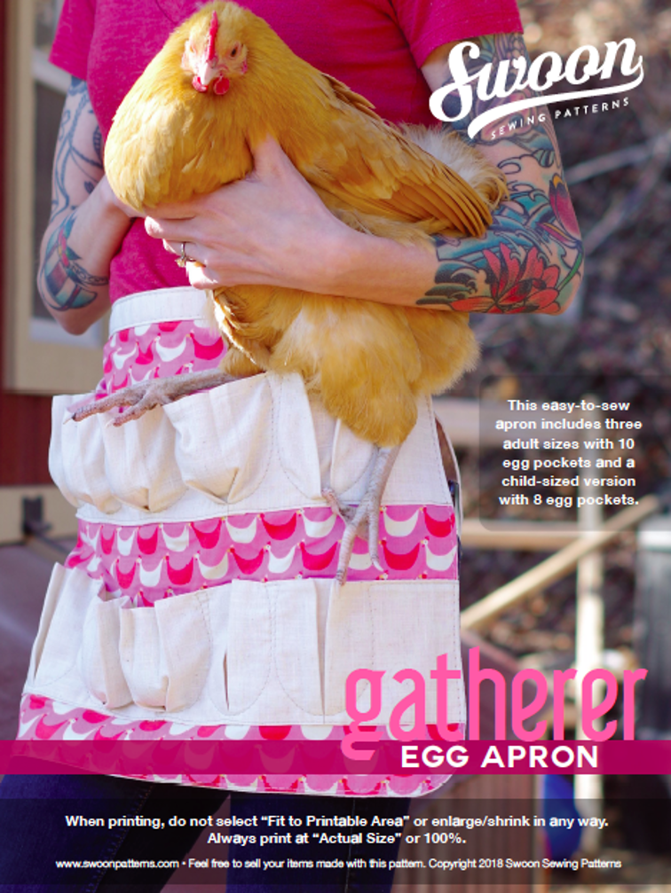 Free Sewing Pattern: Swoon Gatherer Egg Apron | I Sew Free