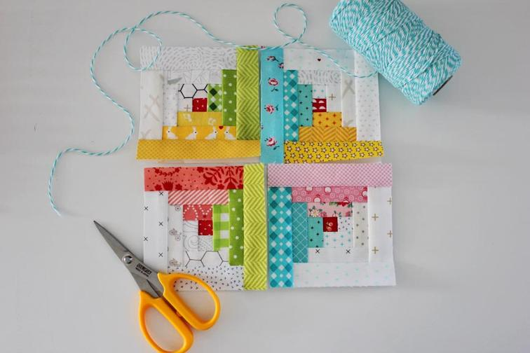 Free Quilt Pattern Tiny Log Cabin Quilt Block I Sew Free