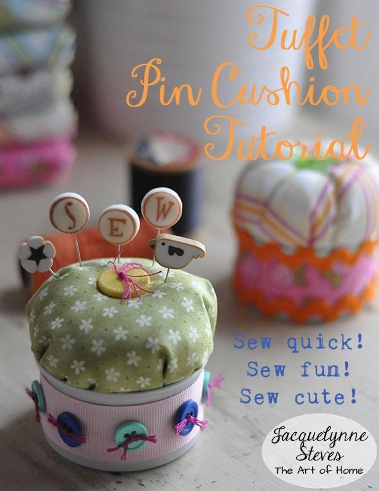 Free Sewing Pattern: Tuffet Pin Cushion | I Sew Free