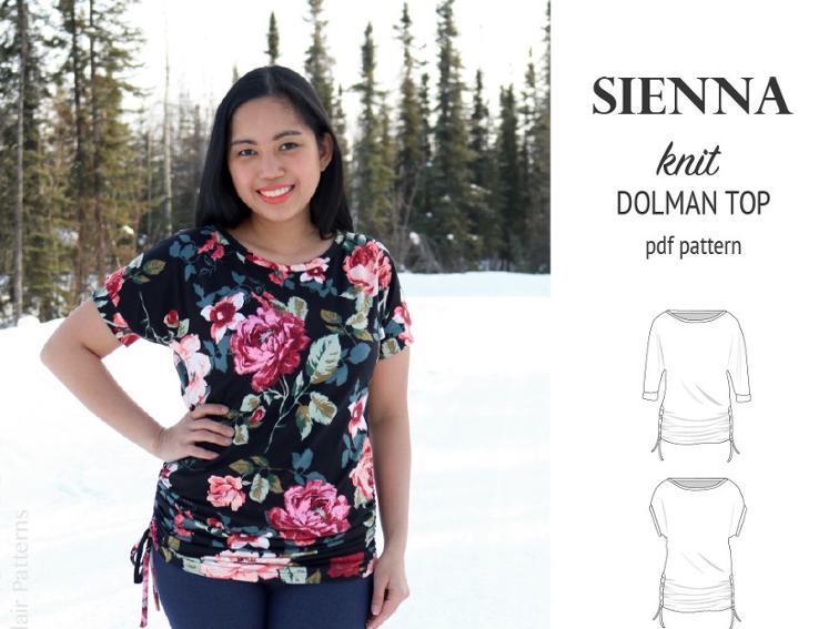 Free Sewing Pattern: Sienna Dolman Knit Top | I Sew Free