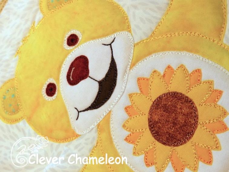 Free quilt pattern: beary colorful applique quilt i sew free