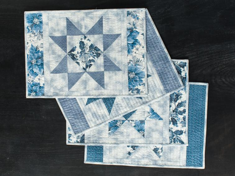 Free Quilt Pattern Scrappy Ohio Star Placemats I Sew Free