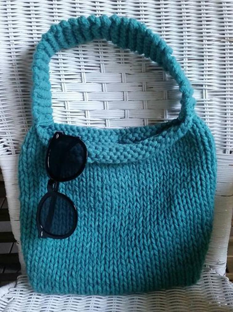 Free Knitting Pattern Knitted Bag I Sew Free