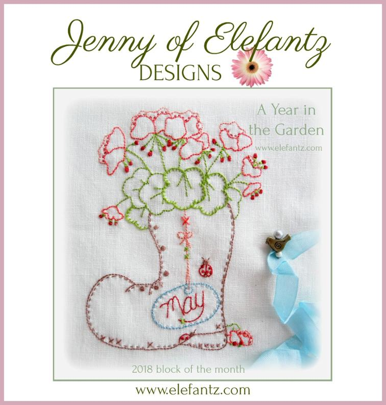 Free Hand Embroidery Pattern A Year In The Garden Bom I Sew Free