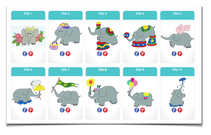 Free Embroidery Designs Ellie The Elephant I Sew Free