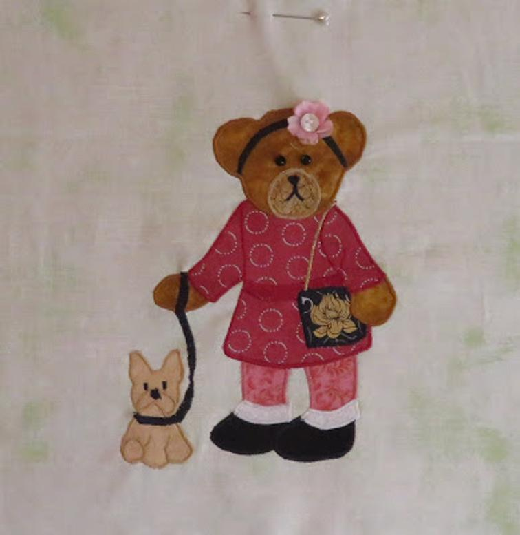 Free Quilt Pattern Sherry Bear And Her Puppy I Sew Free