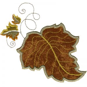Free Embroidery Design Leaf I Sew Free