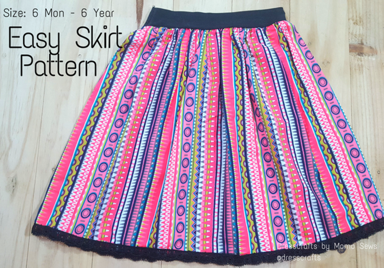Free Sewing Pattern Easy Skirt I Sew Free