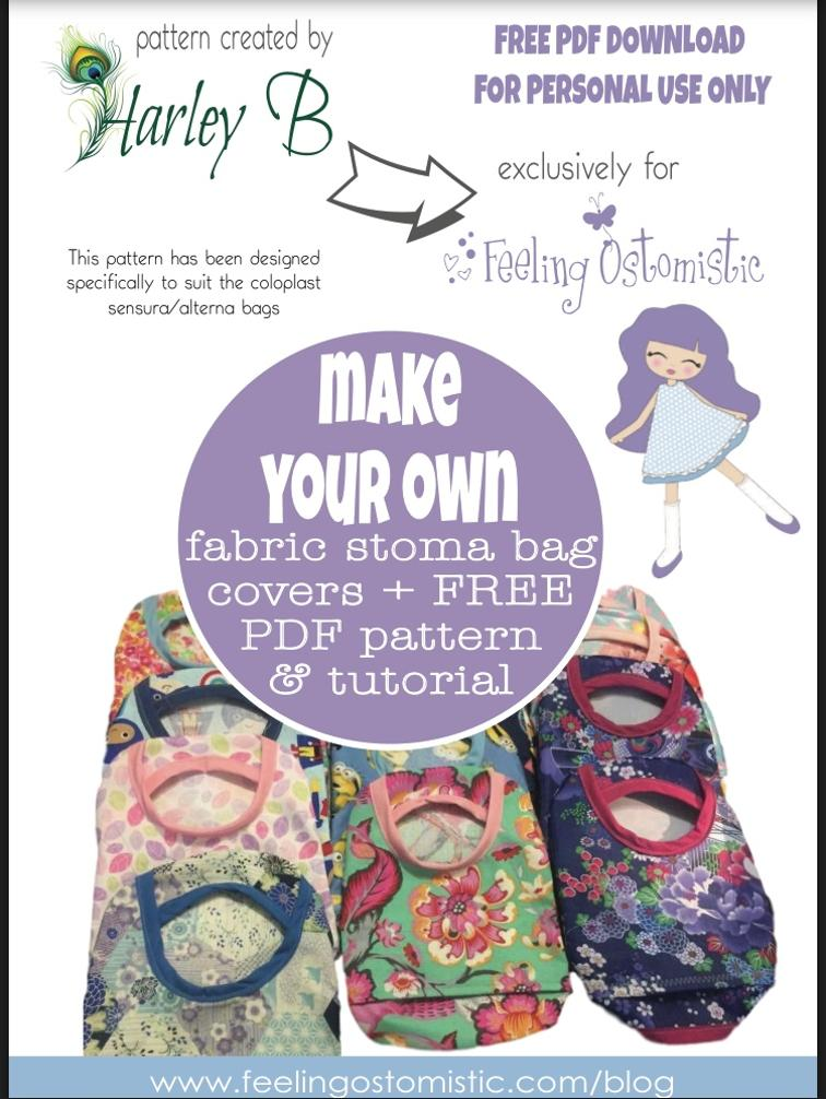 Free Sewing Pattern: Fabric Stoma Cover   I Sew Free
