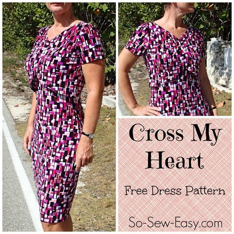 Free Sewing Pattern: Cross My Heart Dress | I Sew Free