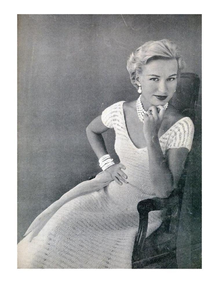 Free Knitting Pattern Ladies Lacy Vintage Dress I Sew Free