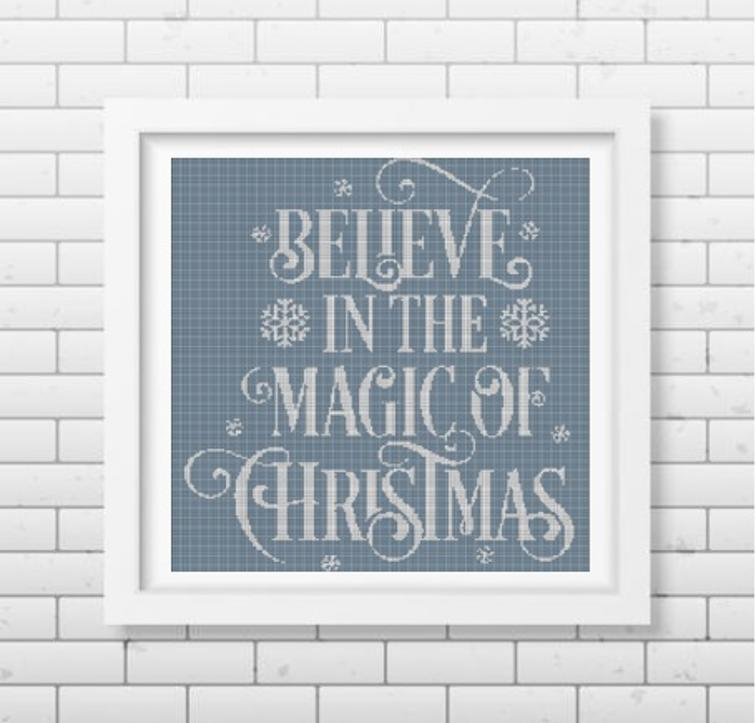 Free Hand Embroidery Pattern Believe In The Magic Of Christmas I