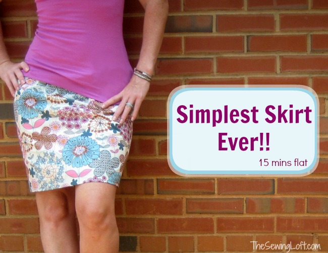 Free Sewing Pattern: Simplest Skirt Ever | I Sew Free