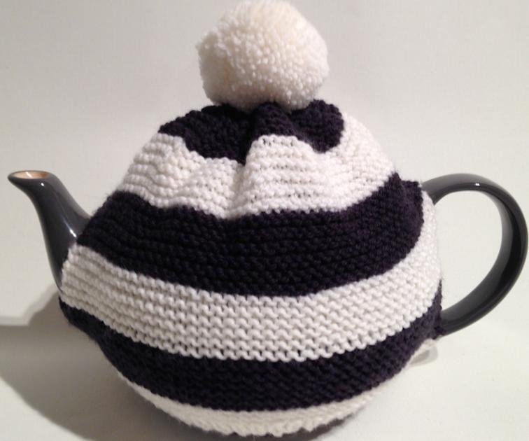 Free Knitting Pattern Stripy Tea Cosy I Sew Free