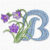 Free Embroidery Design: Meadowy Flower Font – Letter B